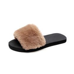 2020 Nuevo en el interior de las mujeres Superstarer diapositivas las pelusas de la felpa de caucho plana mujer diapositivas zapatillas