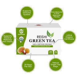 アマゾン熱い販売の中国有機性草のReishiの緑茶袋