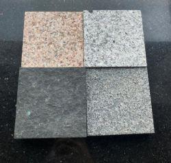 Gris claro/oscuro beige/Gris/Negro/cubos de granito rosa de guijarros y piedras flameados Superficie antideslizante