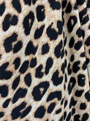 El Durazno de lana Tejido de poliéster 100 Leopard ropa para mujeres