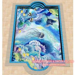 Reticoli di vetro su ordinazione privati dei coralli variopinti esterni della decorazione raggruppamento delle mattonelle di mosaico del palazzo/della villa
