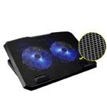 Soporte negro portable del refrigerador de las pistas de la refrigeración por aire del cuaderno de RoHS del Ce del certificado