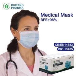使い捨て可能な項目タイプIirのクリスマスマスクの薬学および病院の医薬品の外科Mascarilla ISO 13485のディストリビューター