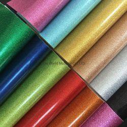 백슈 보우 DIY 재봉틀 재료 0.6mm PU 가죽 캔버스 Glitter Vinyl Fabric
