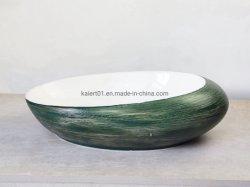 China Hersteller Green Keramik Waschbecken Hotel Waschbecken