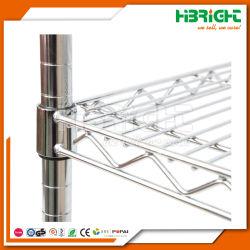 Almacenamiento en estanterías de alambre de metal cromado