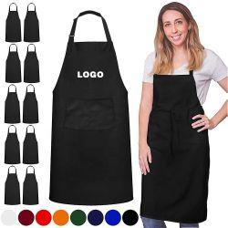 Оптовая торговля пользовательский Дизайн логотипа OEM-Женщины Мужчины кухня обычная пустым фартуков