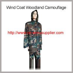 Bon marché de gros de la Chine de l'Armée Camouflage Woodland veste vent M65 enduire