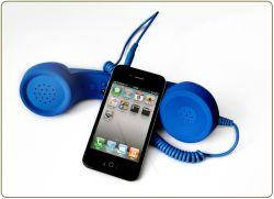 고무 페인트(119DK)가 있는 휴대폰용 레트로 송수화기