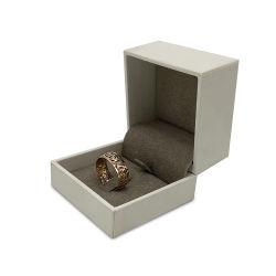 カスタム提案のダイヤモンドの結婚指輪の宝石類の表示プラスチックの箱を包む型のビロードの挿入ギフト