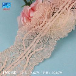 merletto africano nuziale operato del tessuto di 6.6cm per il tessuto netto svizzero del materiale del merletto del merletto della biancheria intima di stirata