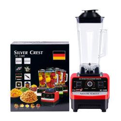 4500W Elektrischer professioneller multifunktionaler Mixer BPA Kostenloser kommerzieller Hausmischer Entsafter Eisglätte-Maschine Silver Crest Küchenmaschine Fruchtmixer