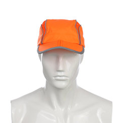 Dernière conception de sécurité réfléchissant Casquette de baseball d'Orange pour l'homme avec 100% Polyester