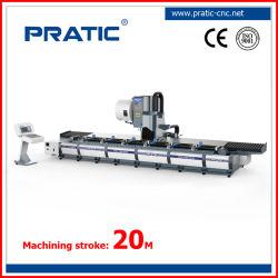 Mover la columna Metalurgia máquina CNC para el procesamiento de perfiles de aluminio largo