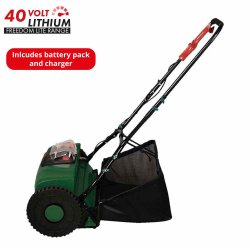 40V Electric Li-ion Cordless Cylinder/Reel Lawn Mower Garden Power Tool