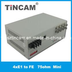 Преобразователь протоколов 4e1 для сети Ethernet мини-типа