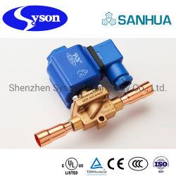 Sanhua Electroválvula de control de fluido refrigerante utilizado en sistemas de congelación, acondicionadores de aire y bombas de calor