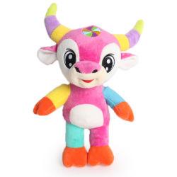 Farcies de haute qualité à bas prix mignonne vache doux Logo personnalisé des jouets en peluche