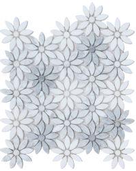 Itália Bianco Carrara flor branca Design pedra mármore Mosaico para a decoração de paredes