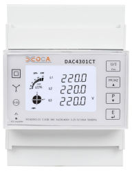 Dac4301CT 3상 RS485 Modbus DIN 레일 디지털 에너지 측정기