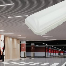 T8 LED 크리스탈 천장 램프 0.6m 1.2m 1.5m LED 트라이프루프 라이트 LED 조명 실외등