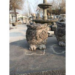 정원 & 야외 장식의 도매 스톤 조각 동물 오울