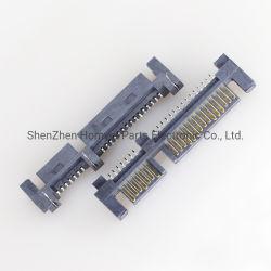 تبيع شركة Hongyi مجموعة أدوات SATA أنثى 90 درجة رقعة 15 + 7 موصل واجهة القرص الثابت الأفقي المعين