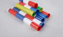 Tejido de tela de tiras de colores