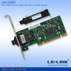 PCI 100Mbps 100fx Conector Sc Ethernet de fibra óptica Plug and Play de la tarjeta de red