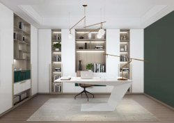 Scrittorio personalizzato bianco moderno e poco costoso del gestore delle forniture di ufficio del MDF