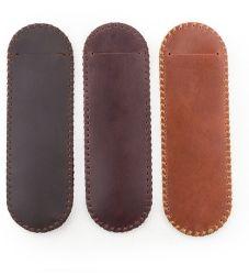 Натуральная кожа Ancicraft Двойной держатель пальчикового типа Pen чехол футляр в подарок ручной работы
