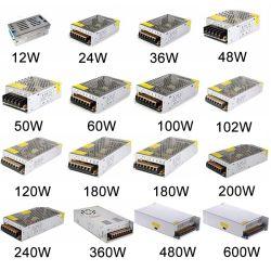 سعر المصنع 5 فولت 36 فولت 48 فولت 12 فولت 24 فولت 1 أمبير 2 أمبير 3 أمبير 4A 5A 6A 8A 10A 15A 20A 30A AC DC وحدة تزويد بالطاقة/SMPS/تبديل مصدر الطاقة لمصباح LED Strip/Printer/eweing Machine/CCTV Camera
