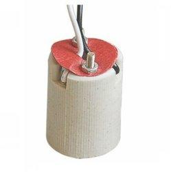 E14 Керамический держатель лампы с помощью кабеля (E14S204) гнезда из фарфора