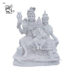 실물 크기 인도 종교 부처 조각상 대리석 힌두교 신상 Shiva Family Sculpture