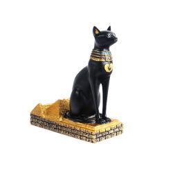 Commerce de gros faite à la main de l'Égypte Cat déesse Statue de la résine Figurine Polyresin égyptien pour la sculpture de collection de l'Égypte Figurine Cat