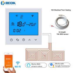 De witte Thermostaat van de Zaal van WiFi van de Kleur voor het Elektro Verwarmen