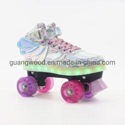 屋外および屋内のための半柔らかいレーザー材料LEDのクォードのローラースケート