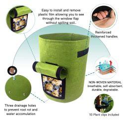 工場直売ポリエステル/PVC PEファブリック園芸植物の養樹園は袋を育てる