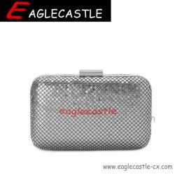 Dama de aluminio plateado' s de la bolsa de embrague de la moda / Noche / Bolsa Bolsa de Mujeres de disco duro / Fiesta Bolso / bolso (CX18421)
