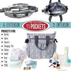 Grande Capacidade Multi Function Mamãe Fraldas Fralda Sacola grande Saco de Fraldas das fraldas para bebés estojos
