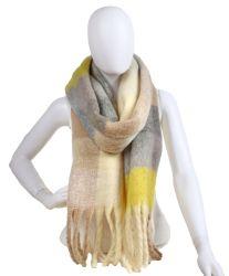 Der Soem-nach Maß Frauen machen bequemen warmen Winter-Schal-Schal mit Mehrfarben glatt