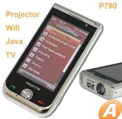 2010新しいP790小型プロジェクター電話WiFiの電話ジャワの電話