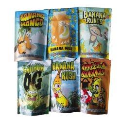 Custom Design Food Grade geur vochtbestendig Mylar folie Plastic Snack Cubensis Golden Weed CBD Ackaging stand-up Tassen