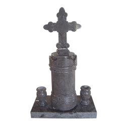 نمط بولular اللاتينية على شكل قاعدة من الحجر الطمي مع Vase Granite Mounument