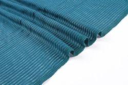 Comercio al por mayor Super suave caída de la tintura de algodón de la aguja azul Tejido de poliéster costilla