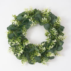 Guirnalda de eucalipto de boj Artificial guirnalda verde para el hogar Sdecoration corona de flores Primavera
