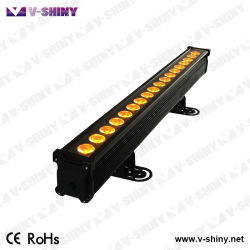 Rgbwauv 6in1 IP65 DMX LED 화소 바 벽 세탁기 디스코 빛
