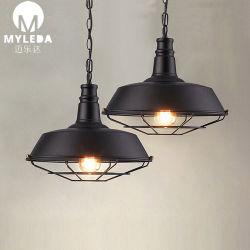 Hôtel antique anneau en laiton en acier inoxydable lampe LED pendentif suspendu