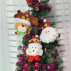 Regalo Pendant dell'ornamento di natale della bambola di natale degli alci del pupazzo di neve della Santa di vendita della decorazione calda all'ingrosso di natale