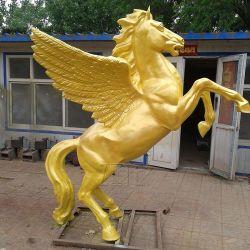 Heißer Verkaufs-im Freiengarten-kundenspezifische lebensgrosse Bronzepferden-Skulptur-Statue